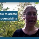 How to create accountability