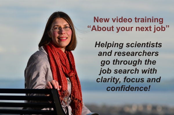 """""""About your next job"""": a new video training for scientists and researchers"""