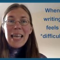 When writing feels *difficult*